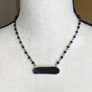 Dainty Elegant Black Chain Link Necklace